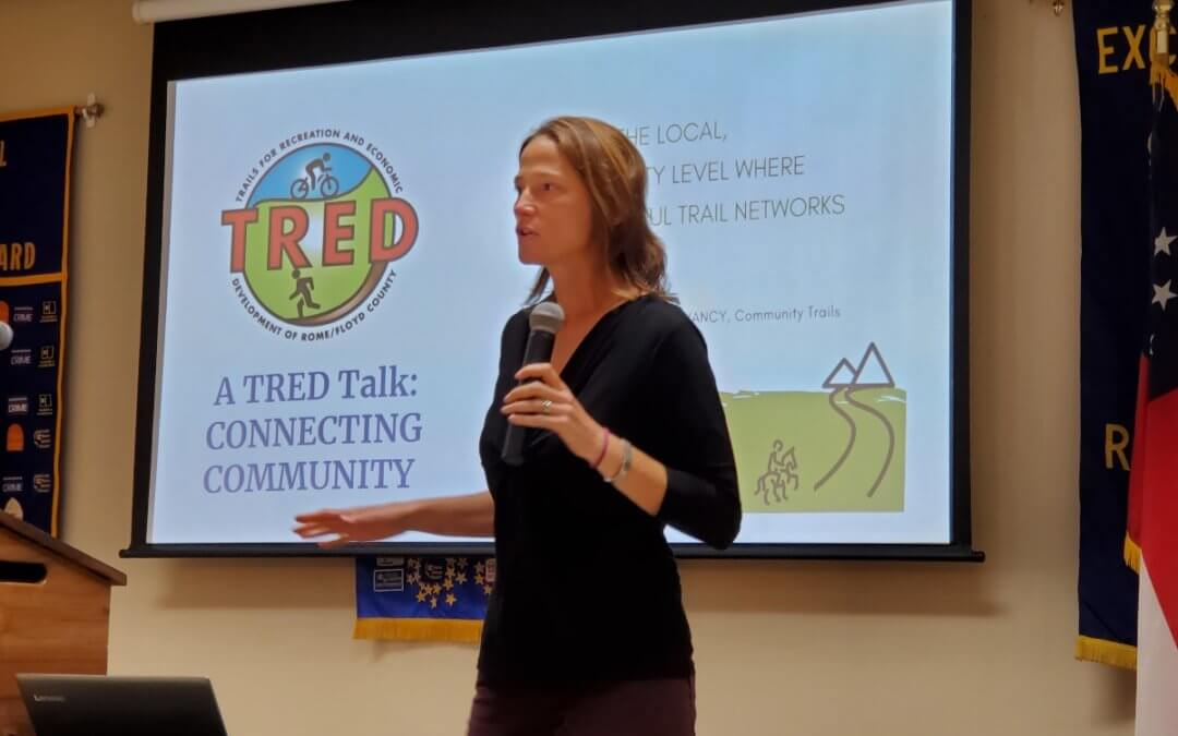 Last week's meeting: Julie Smith with TRED